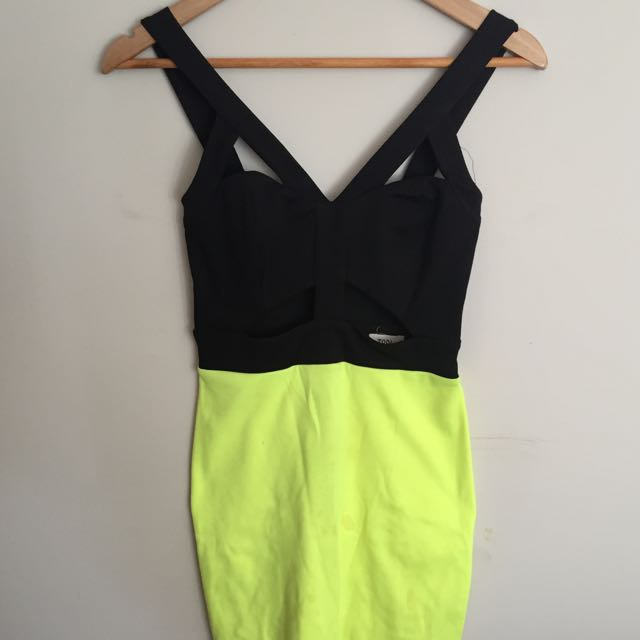 Black And Lime Dress