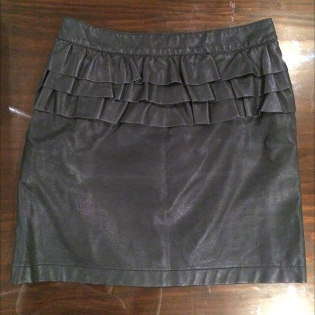 *PRICE DROP* Black Faux Leather Mini Skirt