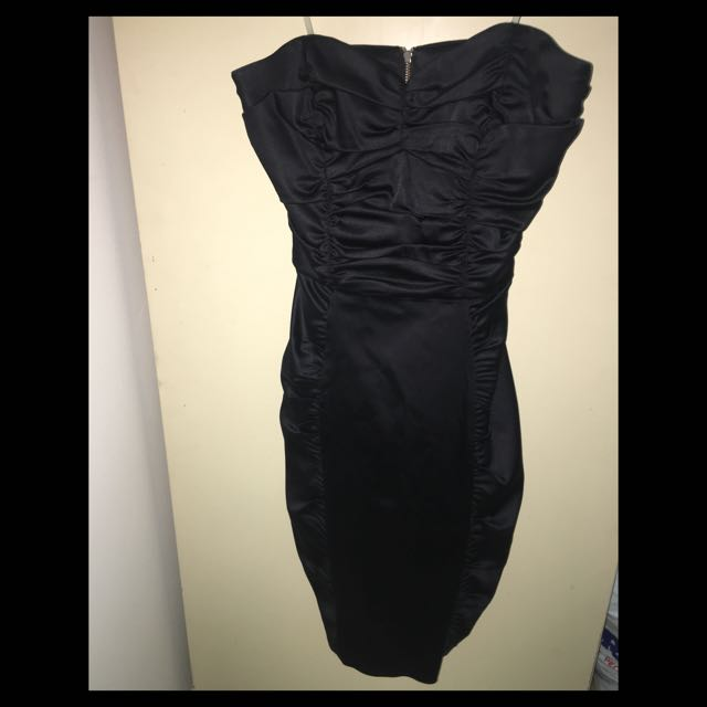 Black Fitted Tube Top Cue Dress