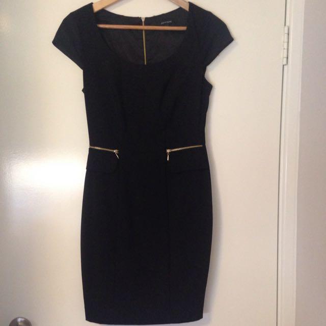 Black Portmans Work Dress