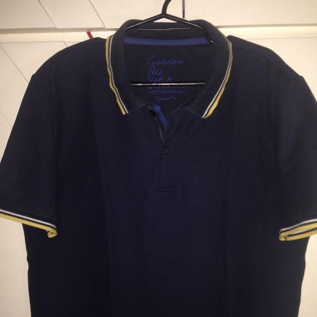 Blue Giordano Polo Shirt
