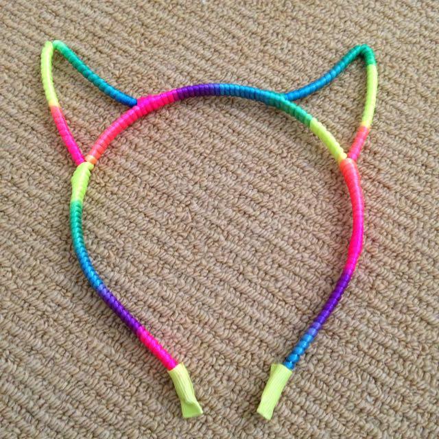 Bright Rainbow Cat Ears
