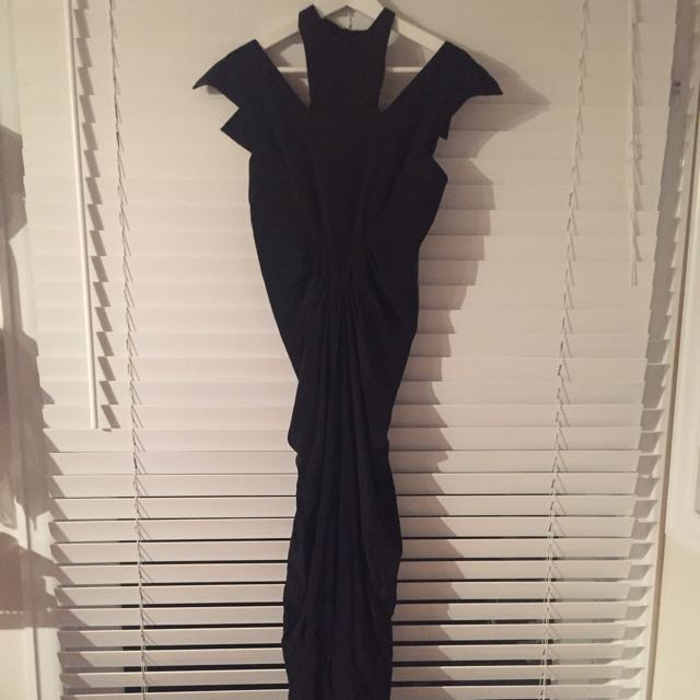 Carla Zampatti Onyx CDC The Gatsby Gown SIZE 8
