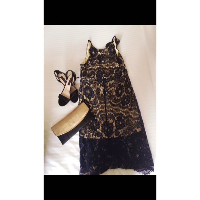 CATALOG lace navy Blue Dress