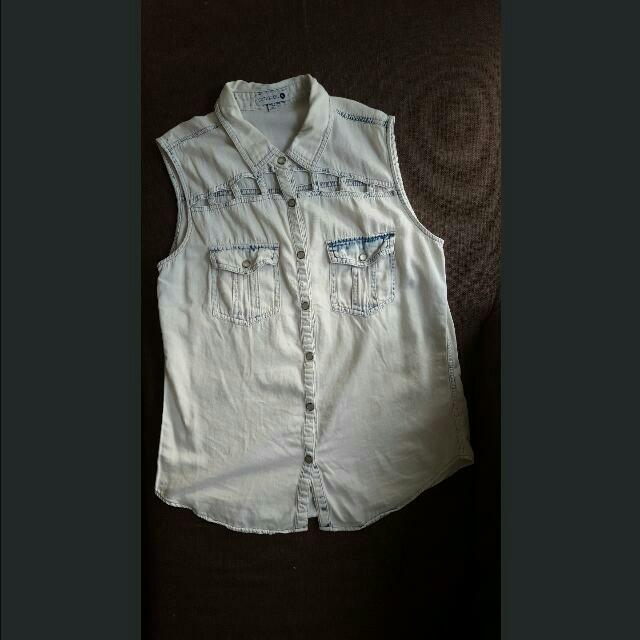 Cotton On Denim Sleeveless Top