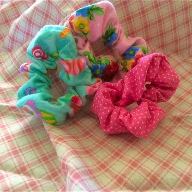 Cute Handmade Scrunchies