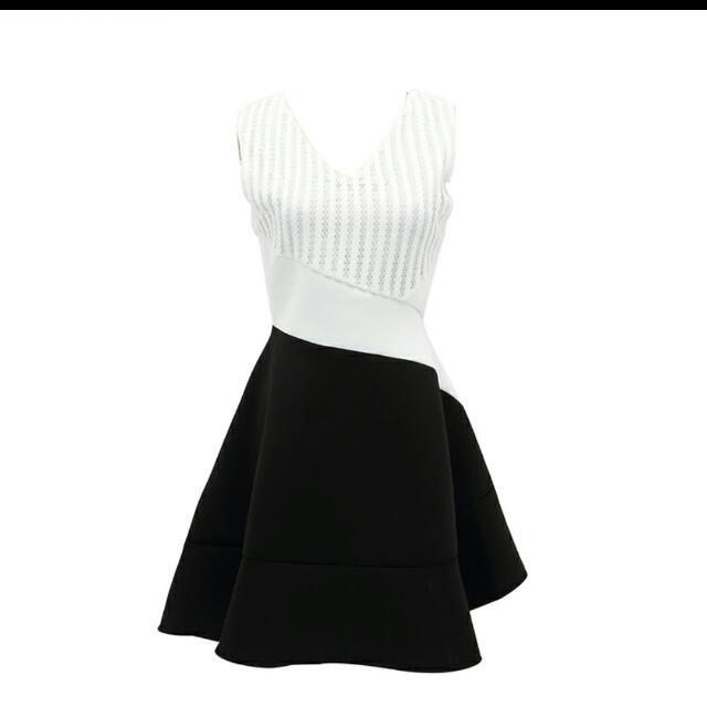 Dainty Black White Dolly Dress