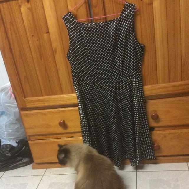 Dotti Polka dot satin dress