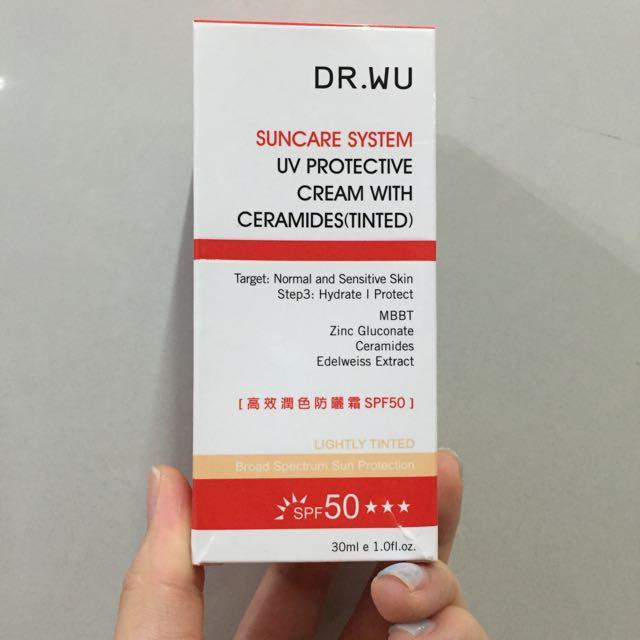 客保留)Dr.wu 高效潤色防曬霜 SPF50