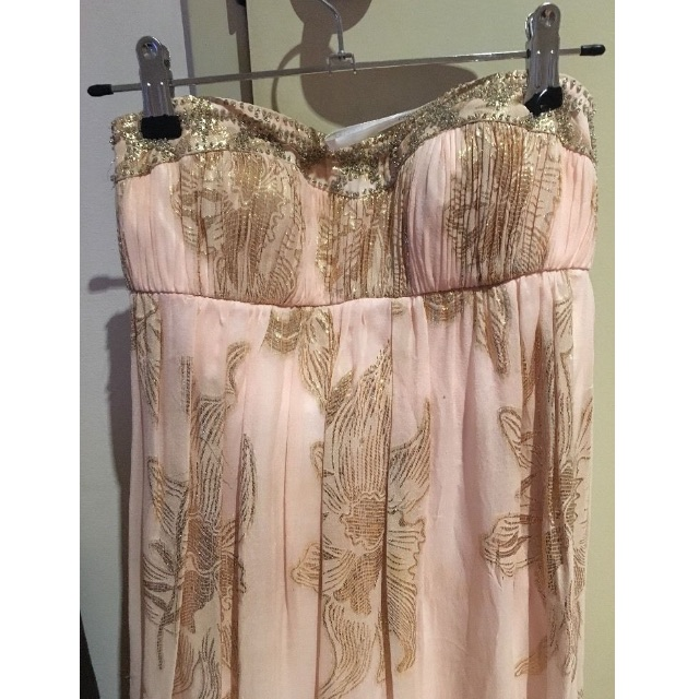 Forever New gold and pink maxi dress