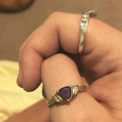 Gold Ring With Purple Stone