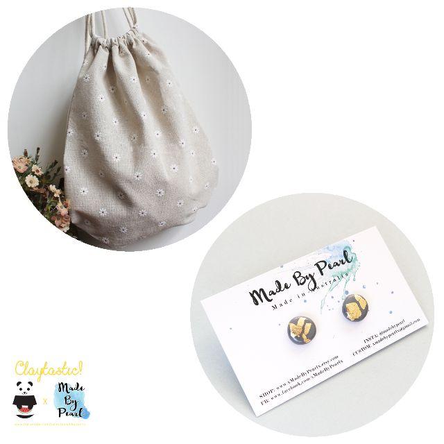 Golden Nature Bundle (Bag + Earrings)