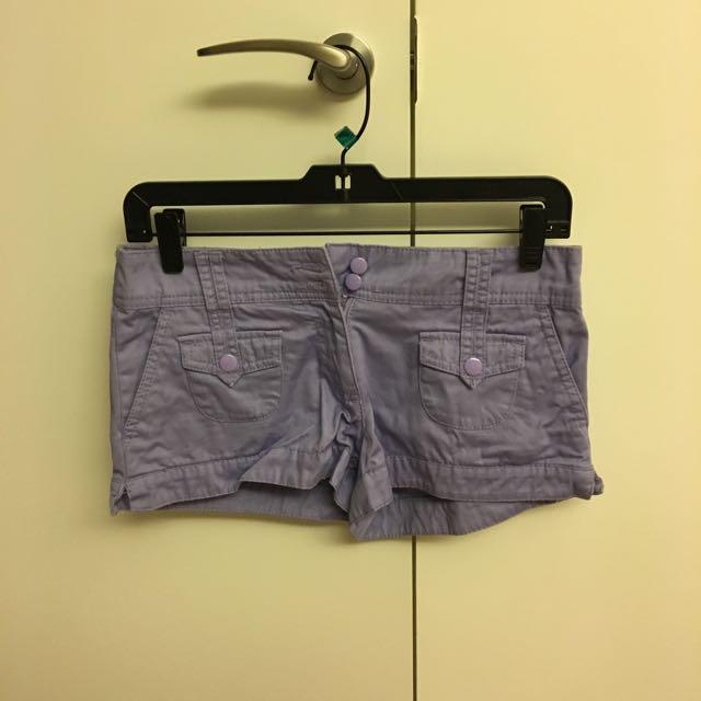 H&M海邊時尚淡紫色短褲