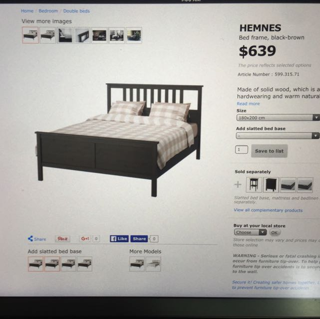 official photos eaddd a1994 ikea king size timber bed frame