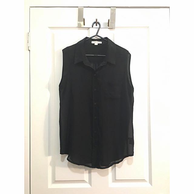 Jay Jays Sleeveless Button Down Shirt