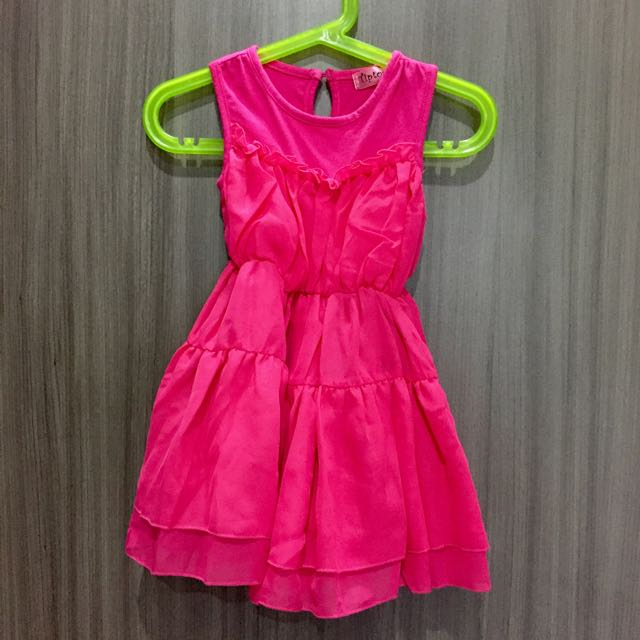 Kids Pink Ruffle Dress - Leira
