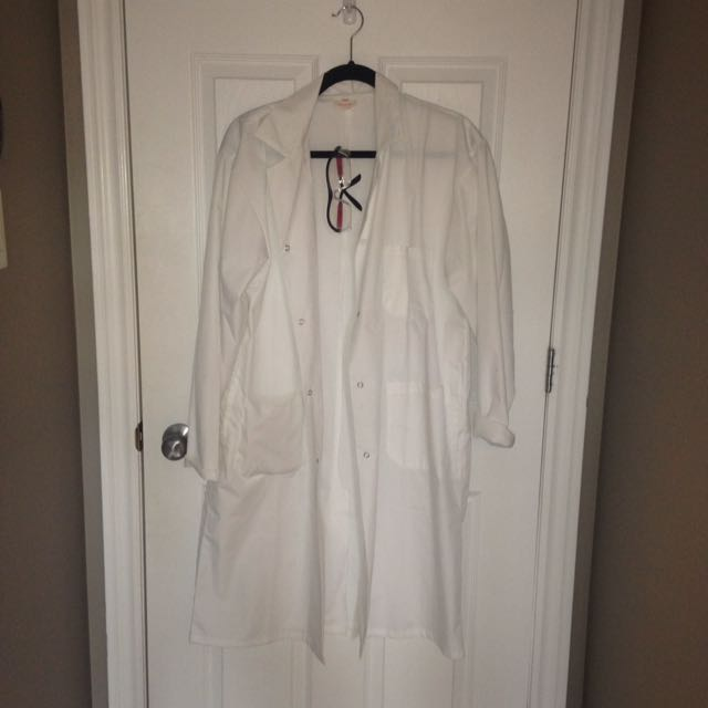 Lab Coat With Safety Glasses