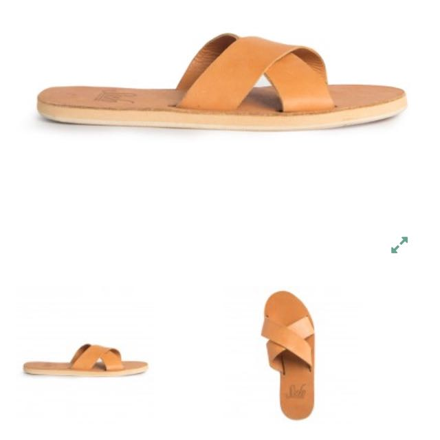 Leather Cross Over Sandal