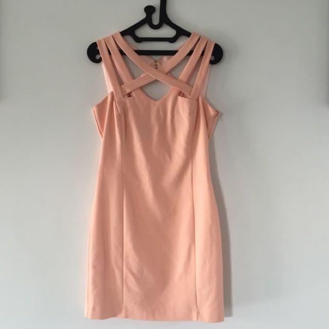 MANGO Suit Peach Dress
