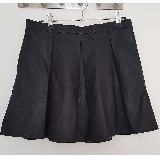 Mink Pink box pleat pleather mini skirt