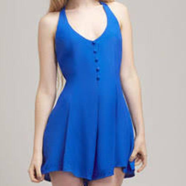 Motel Gypsy Playsuit in Sapphire Blue