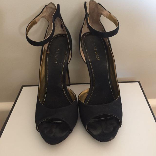 Nine West Black Strappy Shoes