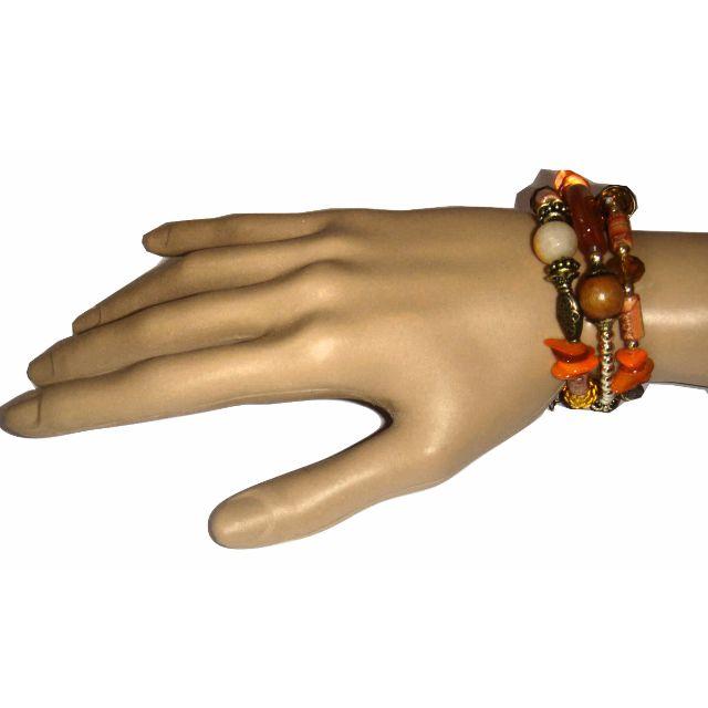 Orange wrap bracelet