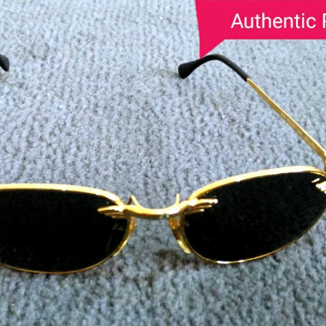 37dc0007cc6 Original Authentic Vintage Gold Frame Police Sunglasses Collector s ...