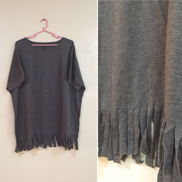 Oversized Fringe Top