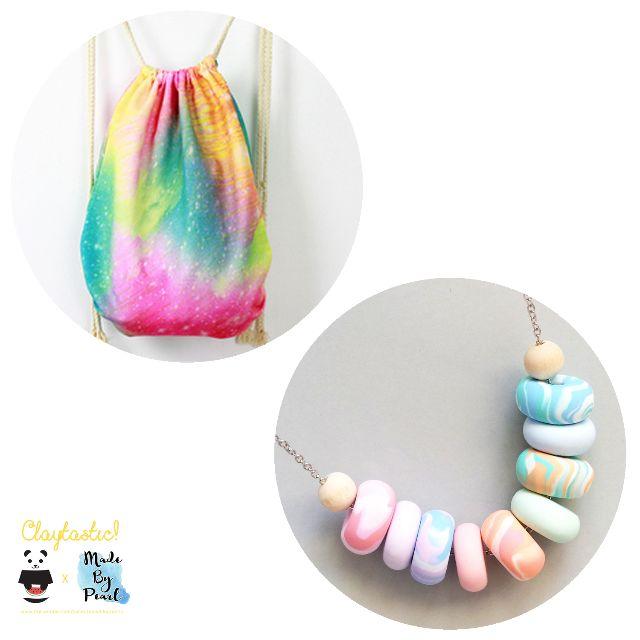Paddlepop Swirl Bundle: Sparkles (Bag + Necklace)