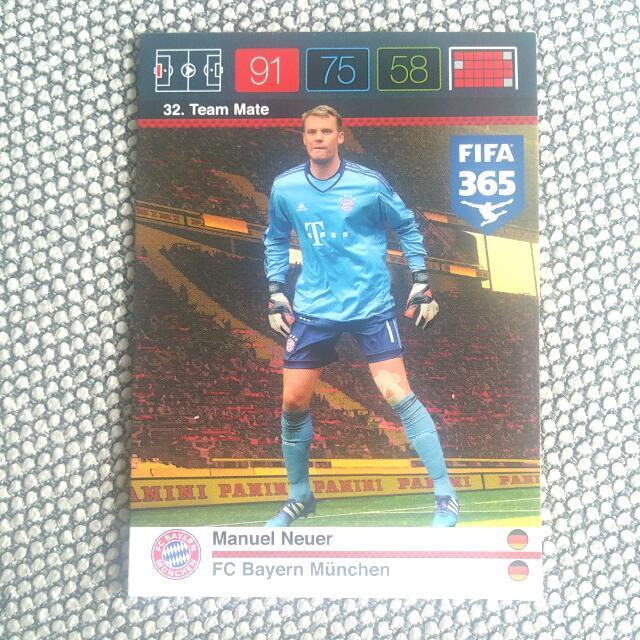 Panini Fifa 365 Manuel Neuer Team Mate