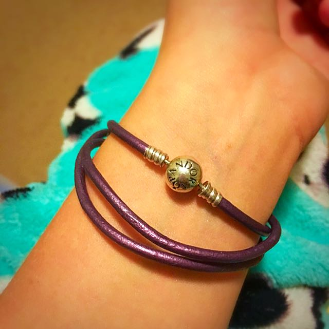 Purple Pandora Wrap Around Bracelet Or Necklace