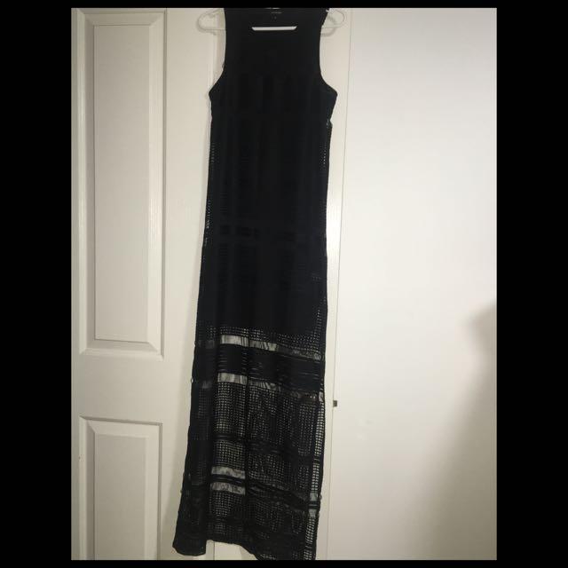 River Land Long Black Dress