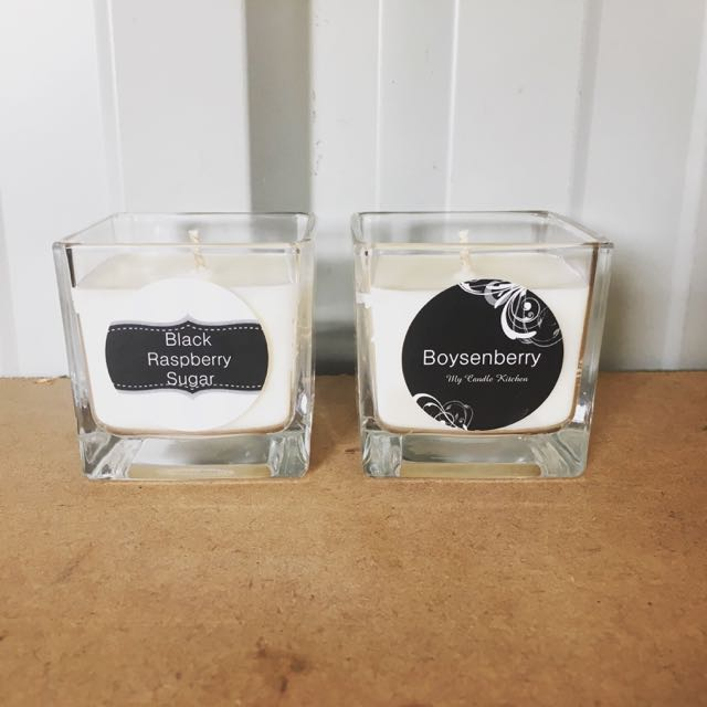 Small Square Cube Candles
