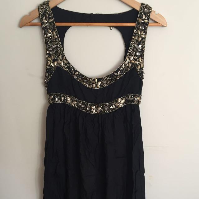 Sportsgirl Beaded Black Dress