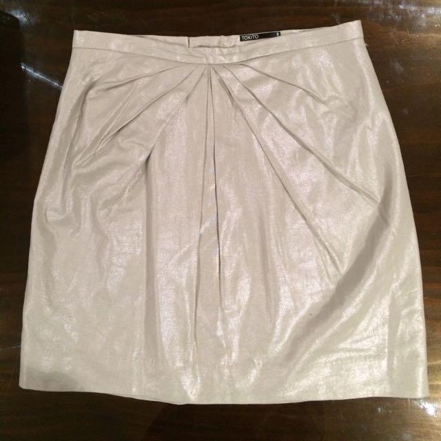 *PRICE DROP* Tokito Metallic Mini Skirt