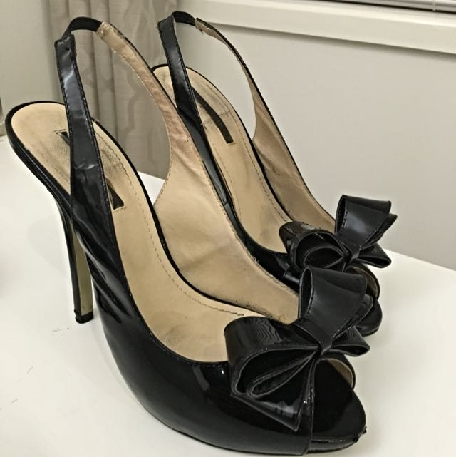 Tony Bianco Black Patent Stilettos