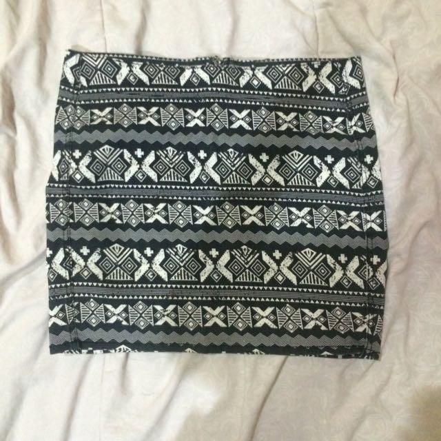 Tribal H&M Mini Skirt