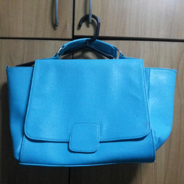 Turquoise Bag With Strap