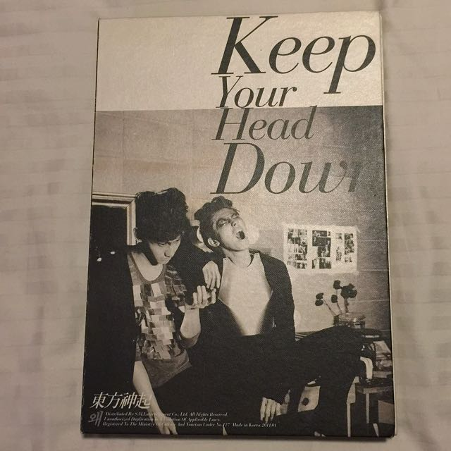 TVXQ! Keep Your Head Down CD & Photobook First Press Limited Edition