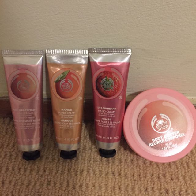 USED ONCE Body Shop Moisturiser Set