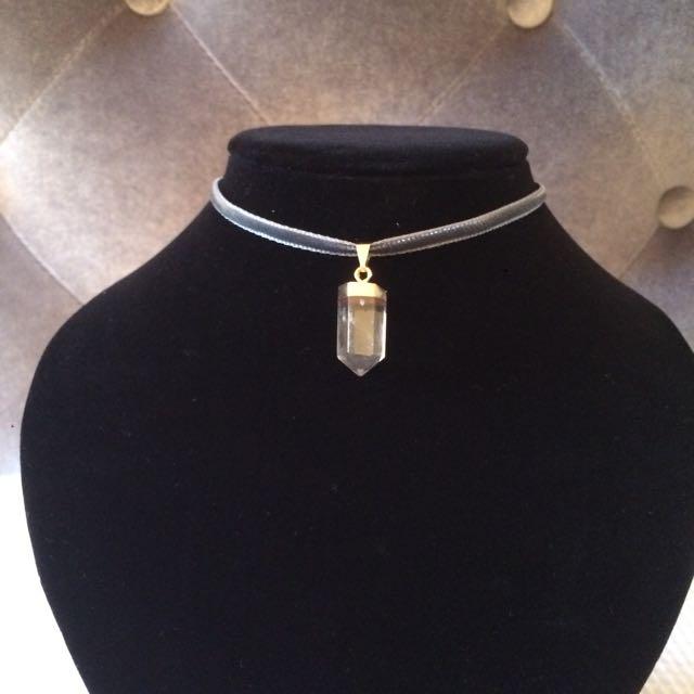 Velvet Crystal Choker Necklace
