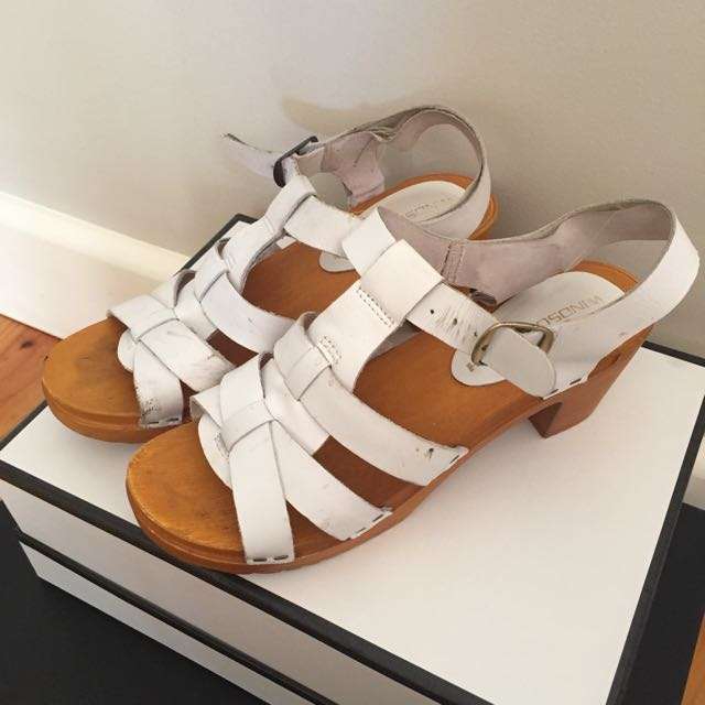 Windsor Smith White Clog Sandals