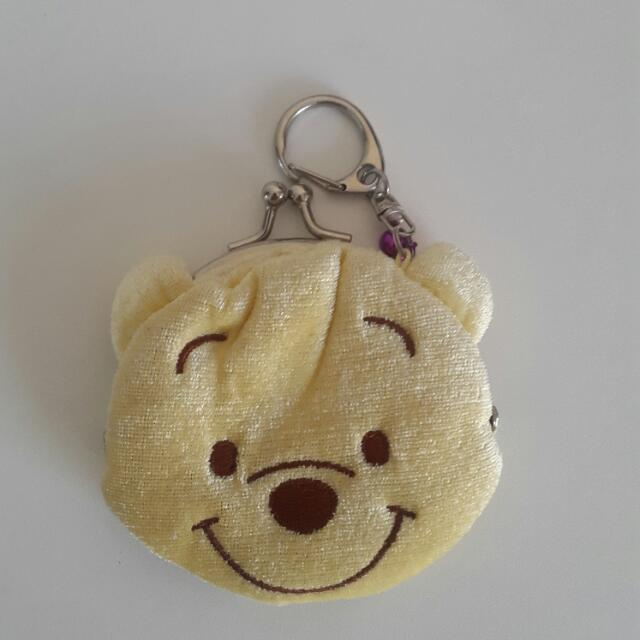 Winnie The Pooh Character Coin Purse Coin Pouch Clasp Hong Kong Disney Land