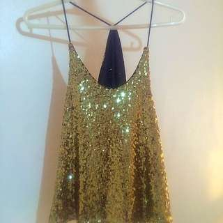 RESERVED Sequin Strap Top