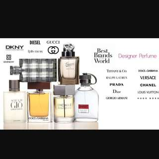 All brand name Perfumes & Cologne