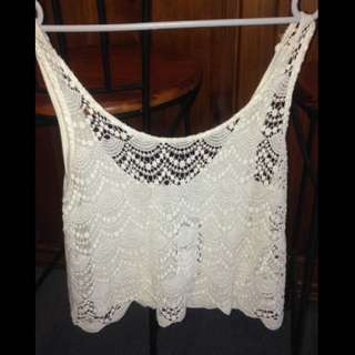 Forever New White loose crop
