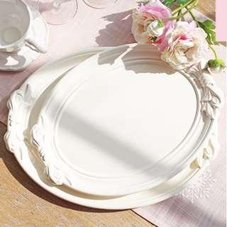 法式蝴蝶結托盤浪漫氣質點心盤/餐盤/蛋糕盤/居家佈置/婚禮佈置