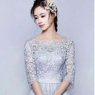 銀色蕾絲禮服