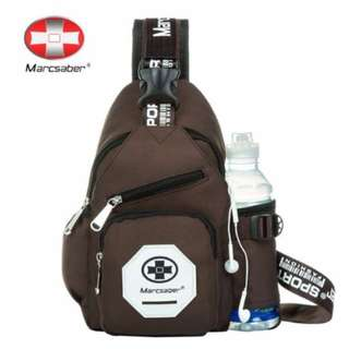 BN Fashion Muti Function Sling Bag + Water Bottle Slot (Brown Edition)